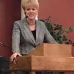 Pastor Albertine LeBlanc of Voice of Hope Ministries in Blackville, New Brunswick, preaching at Almond Tree Ministries Church.