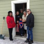 Delivering Christmas Blessings to one of the eldest residents on the Key First Nation.